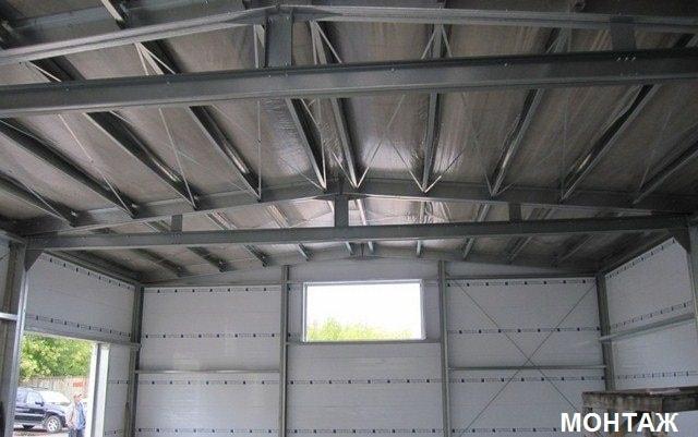 Монтаж автосервиса из металлических конструкций